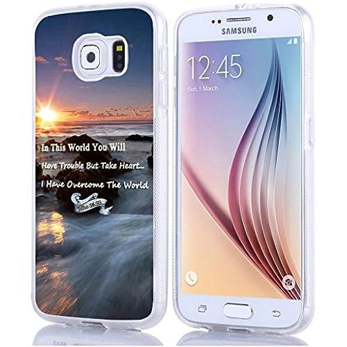 S7 Case Christian Quotes, Samsung Galaxy S7 Case Bible Verses Theme John 16:33 Sales