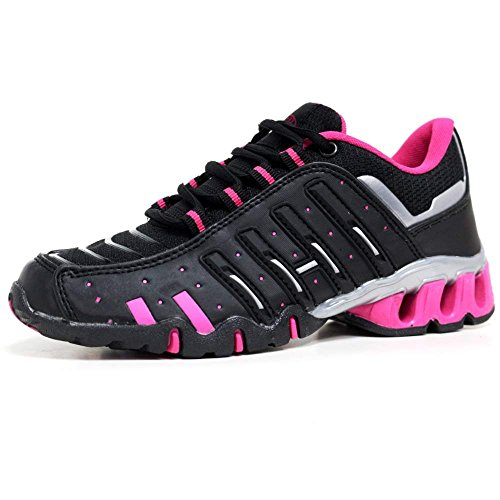 Airtech  Air Tech Shock Absorbing Fitness Gym Sports, Damen Sneaker Schwarz schwarz Black / Fuchsia Multi