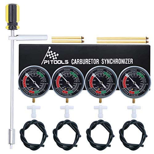 P1 Tools Motorcycle Vacuum Carburetor Synchronizer Synchronization Vacuum Carburetor Tuning Synchronizer Carb for Honda Kawasaki Suzuki Vacuum Gauge Set Gs Kz 550 650 750 (Carburetor Motorcycle Kit)