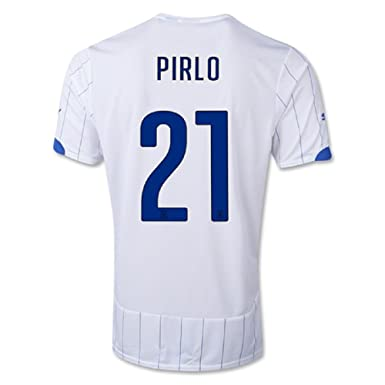 Amazon.com  Puma Pirlo  21 Italy Away Jersey World Cup 2014 (Youth ... d0e342344
