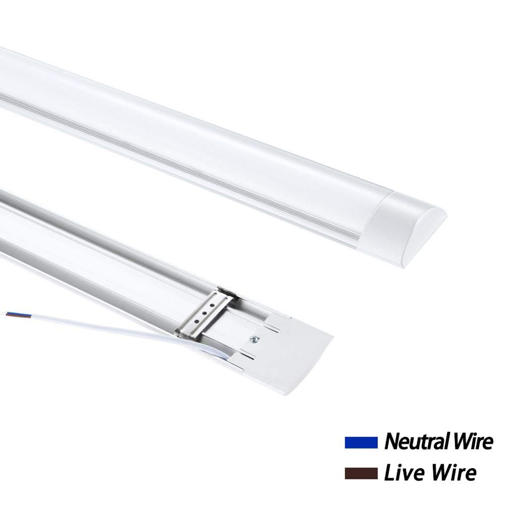 Baiancy 40W 4FT LED Tube Light 4800LM Waterproof LED Shop Lighting for Office Kitchen Bathroom Cold White