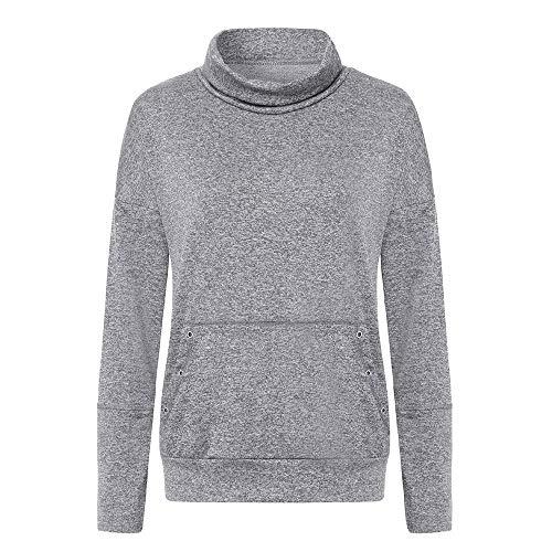 Haut GreatestPAK Longues Hiver Cordon Pochettes Pull Manches Sweatshirt Neck Femme Cowl Automne Gris Ray wEP7qa0