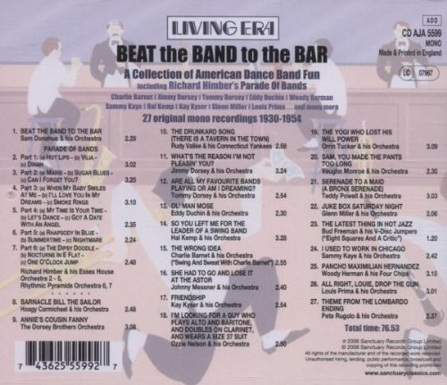Beat the Band to the Bar by Asv Living Era