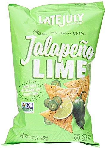 Late July Jalapeno Lime Tortilla chip, 5.5 oz - Jalapeno Tortilla Chips