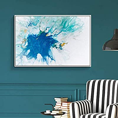Dazzling Expert Craftsmanship, That's 100% USA Made, Floating Framed for Living Room Bedroom Abstract Colorful Painting for