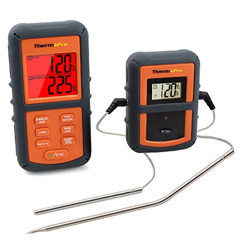 ThermoPro TP08 Wireless Remote Digital Kitchen Cooking Meat Thermometer - Dual Probe for BBQ Smoker Grill Oven