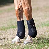 Back on Track Therapeutic Horse Exercise Boots for Front Legs, Black, Large