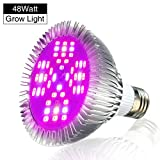 LED Grow Lights Bulb, Pathonor E27 48W LED Full Spectrum High Efficient Hydroponic Plant Grow Lights...