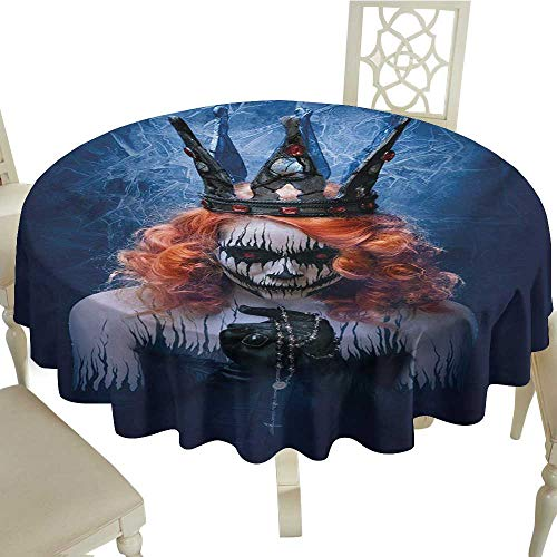 (Polyester Tablecloth Queen Queen of Death Scary Body Art Halloween Evil Face Bizarre Make Up Zombie Party D50 Suitable for)