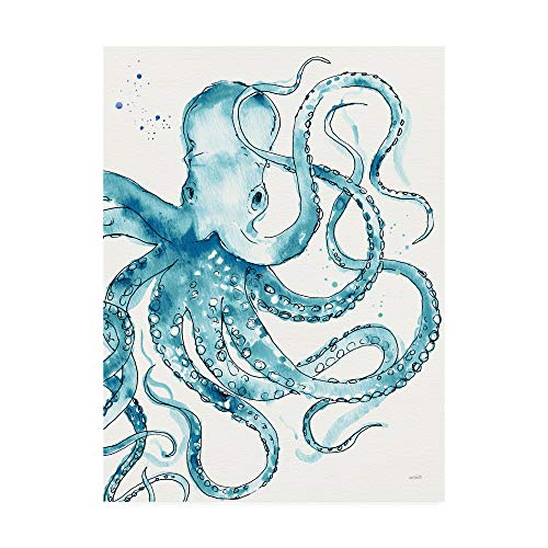 (Trademark Fine Art Deep Sea VIII v2 Teal by Anne Tavoletti, 24x32)