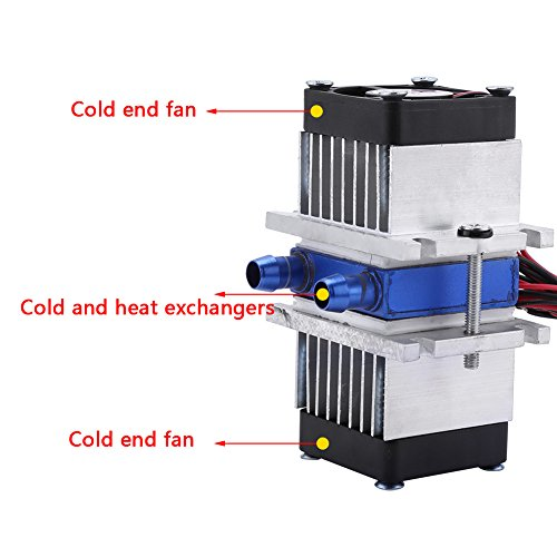 DIY 144W Dual-chip Thermoelectric Peltier Refrigeration TEC1-12706 Cooler with Water Cooling System (Cooler Kit) by Walfront (Image #6)