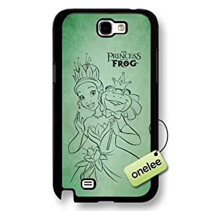 Disney Cartoon Princess and the frog Hard Plastic Phone Case for Samsung Galaxy Note 2 - Disney Princess Tiana Samsung Note 2 Case - Black