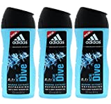 Adidas Ice Dive with Marine Extract 2-in-1 Refreshing Hair & Body Wash, 8.4fl oz. (Pack of 3) offers