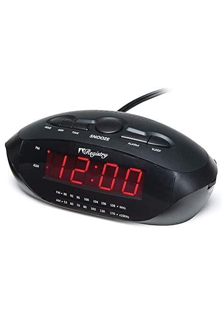 Amazon com: Registry LED Clock Radio with USB and MP3 Has Am
