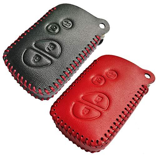 Coolbestda 2Pcs Leather Smart Car Key fob Case Skin Remote Accessories Keyless Entry Jacket Protector for Lexus RX350 ES350 IS250 GX460 LX570 IS350 GS300 GS450h is-C is-F HYQ14AEM HYQ14ACX