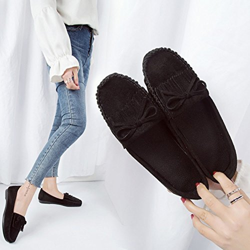 Round Shoes slip Womens Frige Shoes Shoes Non Casual Black Sale Clearance Sole on Head For Shoe Peas Lazy Slip ,Farjing Women 7wTq0g
