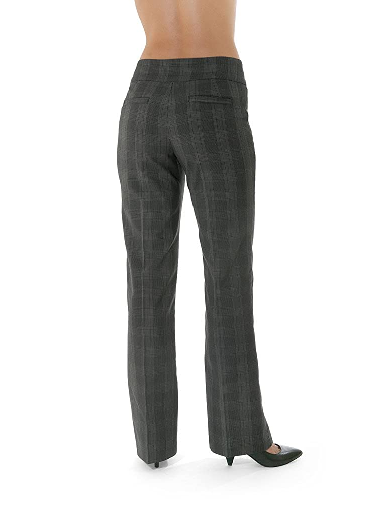 Go Free Womens Business Casual Pant Black//Grey