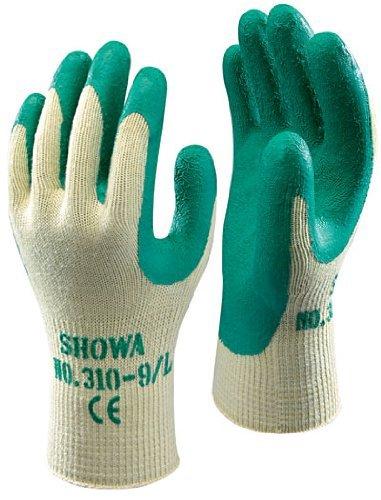 Showa 310 Green Grip Work & Gardening Gloves Size 7 / Small - 10 Pairs