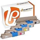 bubprint 4 TONER COMPATIBILE PER OKI C301 C321 MC332 MC342 Set