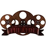 Bronze Metal Wall Decor Theater Media Room Sign Decoration
