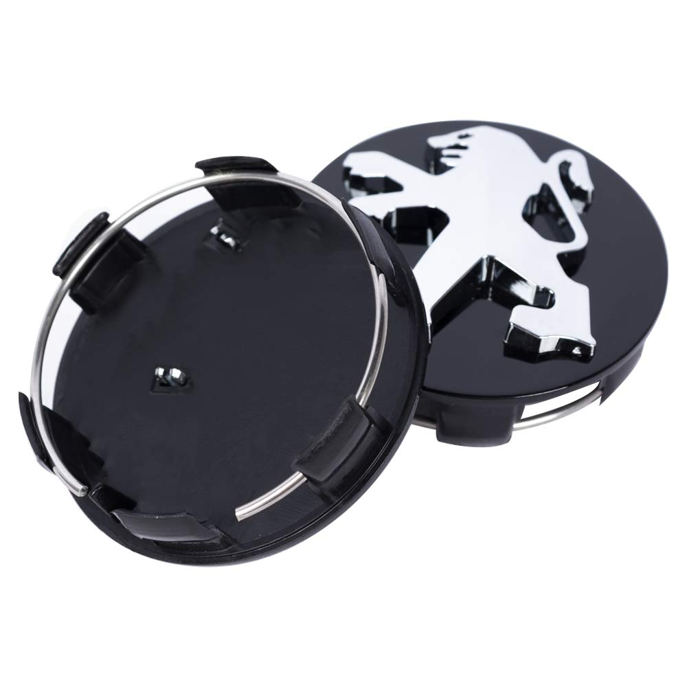 SFONIA 4pcs 60MM Wheel Center Caps Hub Cover Hub Center Caps for 106 107 206 207 307 308 406 407