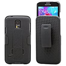 Aduro Shell and Holster Case with Built-In Kickstand and Swivel Belt Clip Holster for Samsung Galaxy S5 (Retail Packaging)