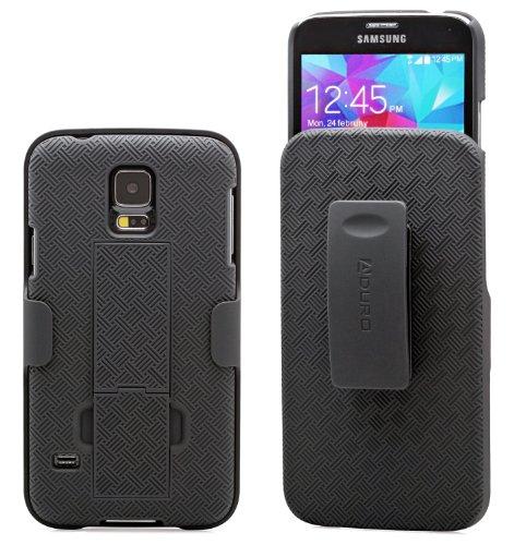 Galaxy S5 Case, Aduro Combo Shell & Holster Case Super Slim