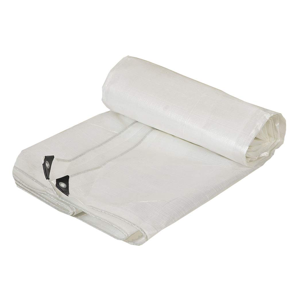 YX-Planen Mehrzweck-weiße Wasserdichte Plane für hohe Beanspruchung - 100% wasserdicht und UV-geschützt - Dicke 0,3 mm, 180 g m² B07KT1VZFF Zeltplanen Qualität