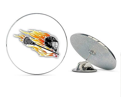 Amazon.com: Lacrosse Flame Trail - Pin de metal redondo de ...