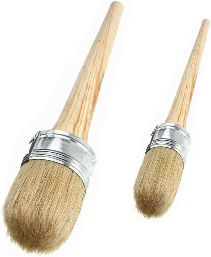 Abimars 2 PCS Chalk Paint Wax Brush Set – 1