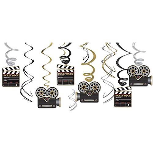 Lights! Camera! Action! Value Pack Party Foil Swirl Hanging Decorating Kit