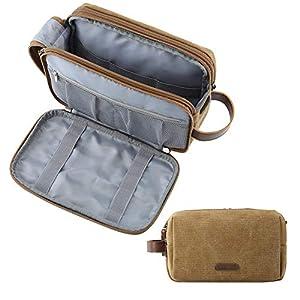 BAGSMART Toiletry Bag for Men Water Resistance Shaving Dopp Kit Overnight Wash Bag Cosmetic Bag Bathroom Toiletries…