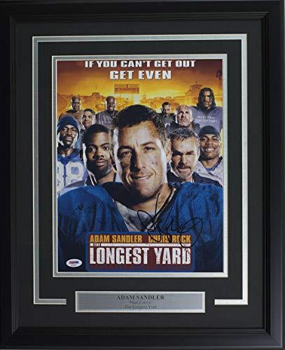 Adam Sandler Signed Framed 11x14 The Longest Yard Movie Poster Photo - PSA/DNA Certified (Longest Yard Poster)