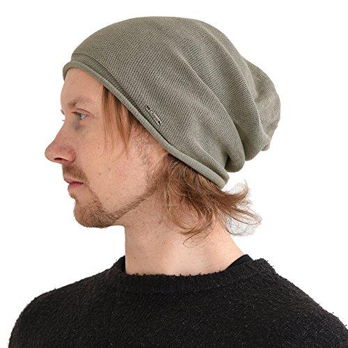 CHARM Casualbox | Organic Cotton Stretchy Beanie Made in Japan Men Women Knit Hat Fashion Summer Winter All Season Chemo Medical Cancer Natural Light (Japan Summer Fashion)