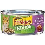 indoor cat food friskies - Purina Friskies Indoor Homestyle Turkey Dinner With Garden Greens in Gravy Adult Wet Cat Food - Twenty-Four (24) 5.5 oz. Cans