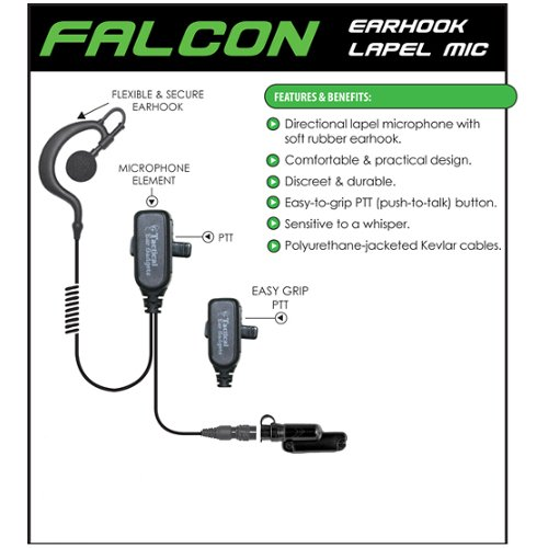 FALCON Quick Release Headset for Vertex Standard VX-600 VX-800 VX-900 by Tactical Ear Gadgets