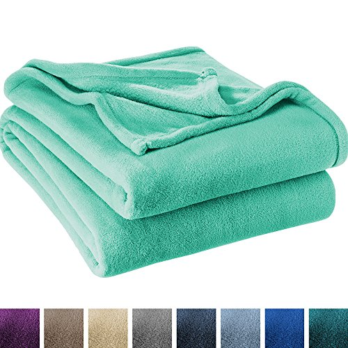 Ultra Soft Microplush Velvet Blanket - Luxurious Fuzzy Fleece Fur - All Season Premium Bed Blanket, Twin Extra Long (Twin XL / Twin, Turquoise)