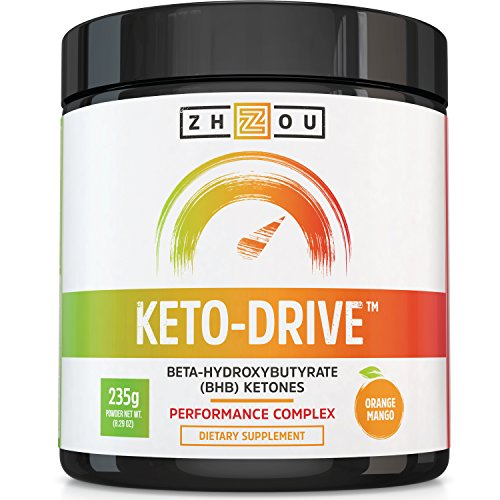 Price comparison product image KETO DRIVE BHB Salts - Exogenous Ketone Performance Complex - Formulated for Ketosis, Energy, Focus and Fat Burn - Patented Beta-Hydroxybutyrates (Calcium, Sodium, Magnesium) - Orange Mango