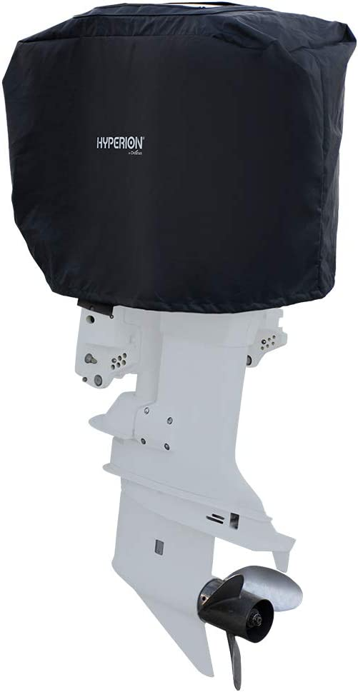 Hyperion Outboard Boat Engine Cover: Outboard Motor Cover with Solar Charger Built in - Heavy Duty Waterproof Boat Motor Cover with Weatherproof Protection