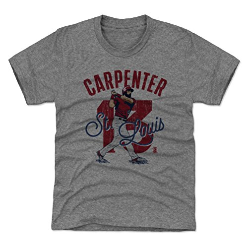 (500 LEVEL St. Louis Baseball Youth Shirt - Kids Medium (8Y) Tri Gray - Matt Carpenter Arch R)