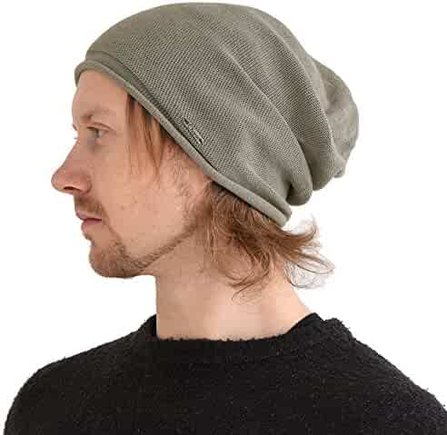 44dc3b1173a CHARM Organic Cotton Stretchy Beanie Made in Japan Men Women Knit Hat Chemo  Hat