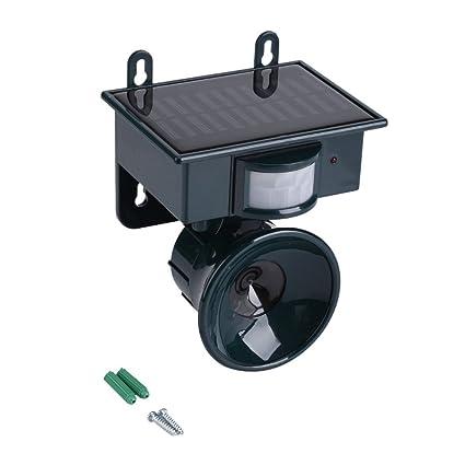 Solar Powered Sensor de movimiento PIR Repelente de plagas por ultrasonidos Bird Dog Cat Fox Mouse