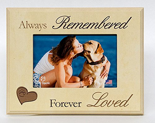 DOG MEMORIAL PICTURE FRAME: Always Remembered - Forever Loved (Frame Pet)