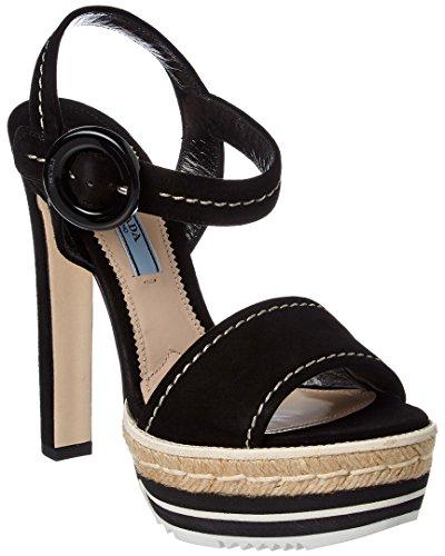 Prada Black Leather Wedges - 9