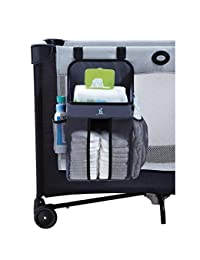 hiccapop Playard Nursery Organizer and Diapers Organizer | Baby Diaper Caddy | Universal Fit for Hanging on All Playards | Store Lotion, Wet Wipes and More BOBEBE Online Baby Store From New York to Miami and Los Angeles