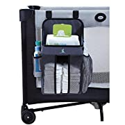hiccapop Playard Nursery Organizer and Diapers Organizer | Baby Diaper Caddy | Universal Fit for Hanging on All Playards | Store Lotion, Wet Wipes and More