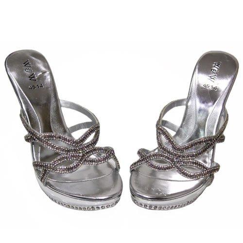 Wear & Walk UK - Sandalias de vestir para mujer Plata - plata