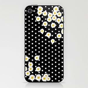 TY- margaritas&caso punto blanco para el iphone 4 / 4s