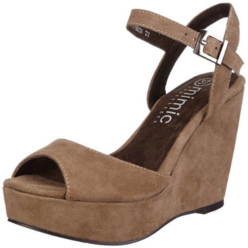 de Copenhagen color Zapatos mujer M131609 para azul talla Suede pulsera cuero Wedge Mimic 37 de 1SUg4