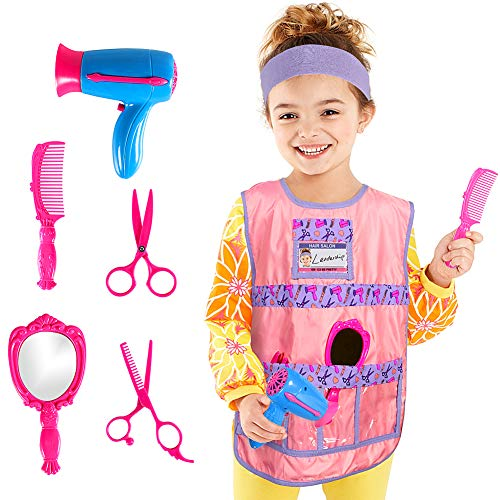 7 PCS Hair Stylist Role Play Costume Set Dress up Clothes for Kids Boys Girls